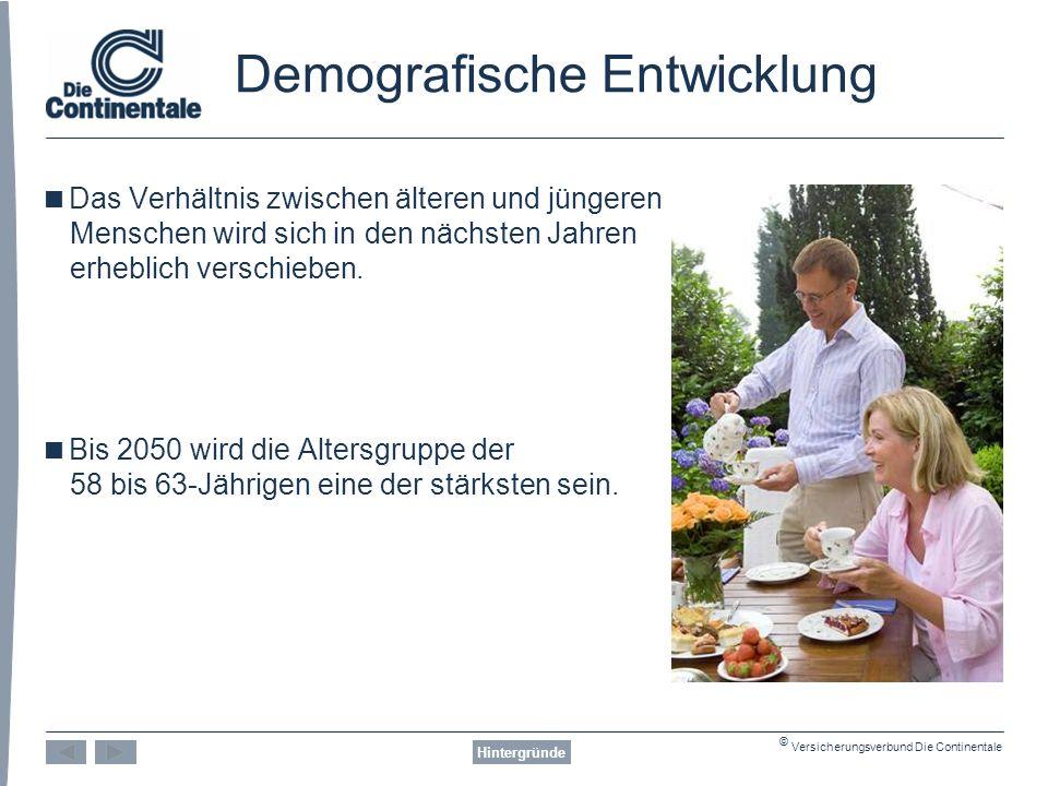© Versicherungsverbund Die Continentale Risiken Beispiel: Pflegebedürftigkeit Risiken 768 1.830 3.090