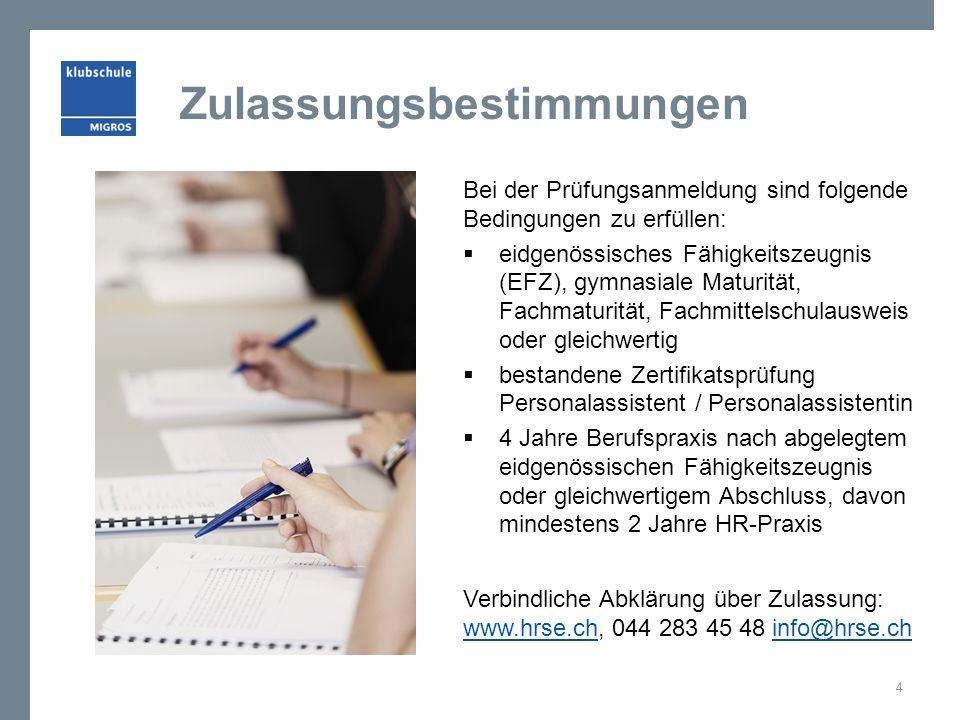 Zulassungsbestimmungen Bei der Prüfungsanmeldung sind folgende Bedingungen zu erfüllen:  eidgenössisches Fähigkeitszeugnis (EFZ), gymnasiale Maturitä
