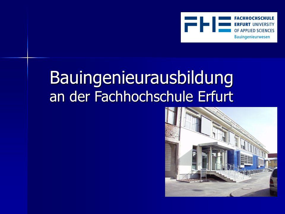 Bauingenieurausbildung an der Fachhochschule Erfurt