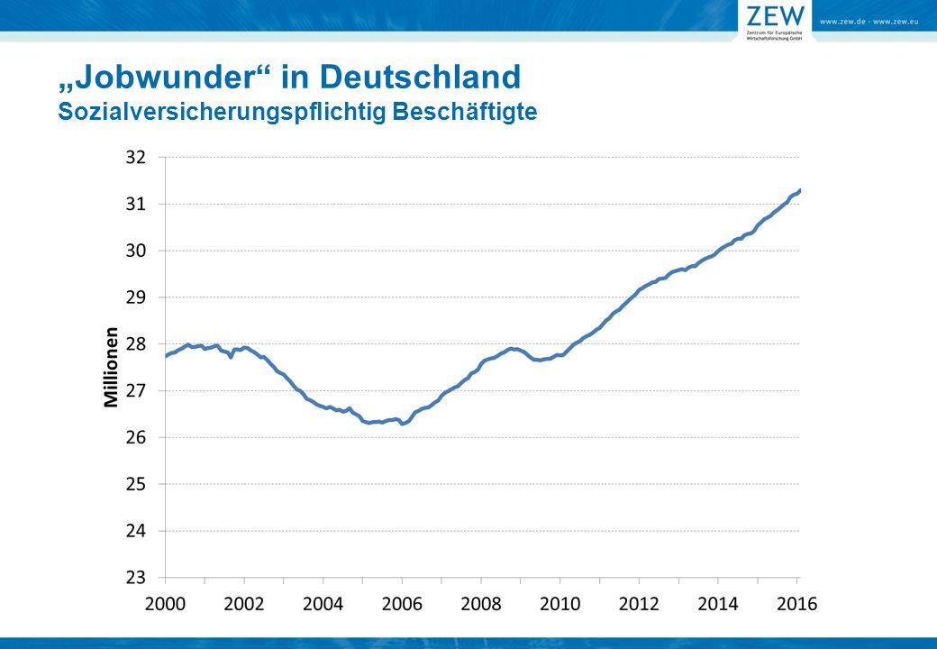 Herausforderung: Niedriges Qualifikationsniveau Ausländische Bevölkerung in Deutschland NiedrigMittelHochUnbekannt Humanitäre Zuwanderer seit 1995 Neuzuwanderer 2013