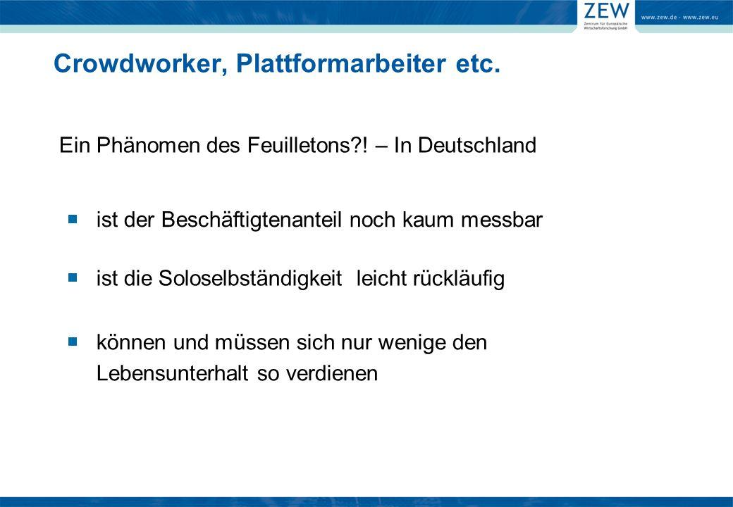 Crowdworker, Plattformarbeiter etc. Ein Phänomen des Feuilletons?.