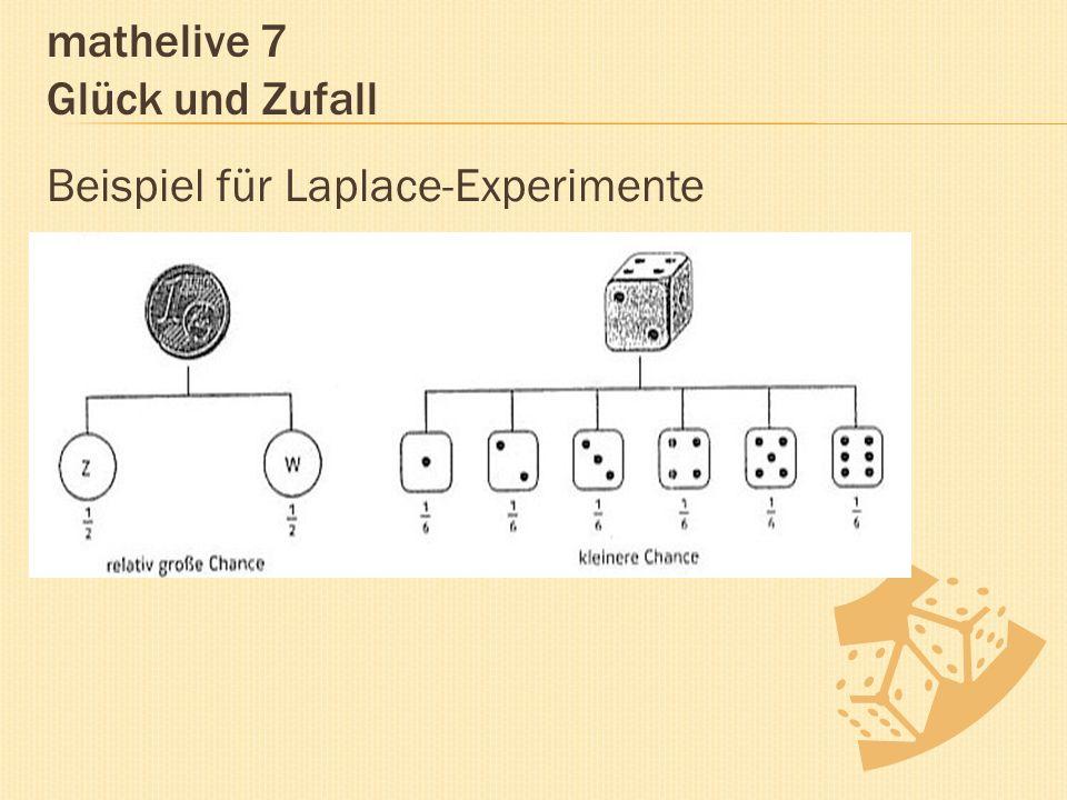 mathelive 7 Glück und Zufall Beispiel für Laplace-Experimente
