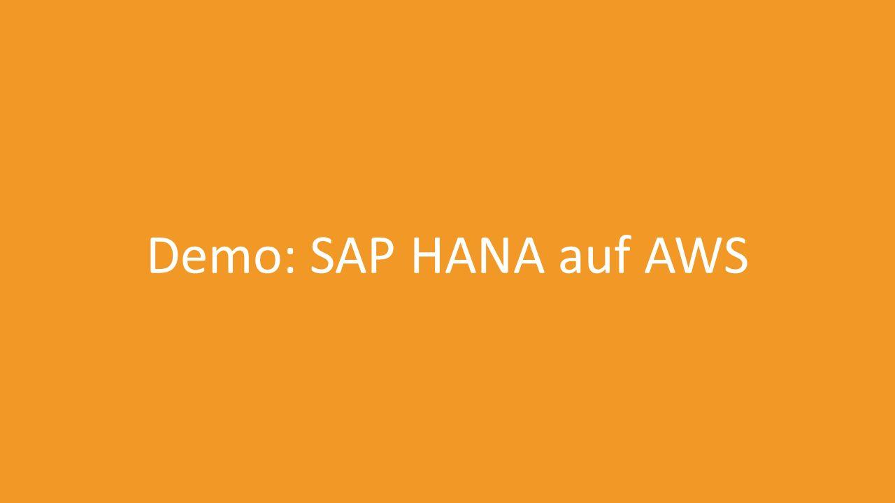 Demo: SAP HANA auf AWS