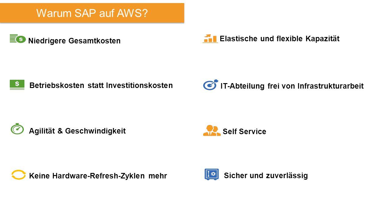 Niedrigere Gesamtkosten Warum SAP auf AWS.