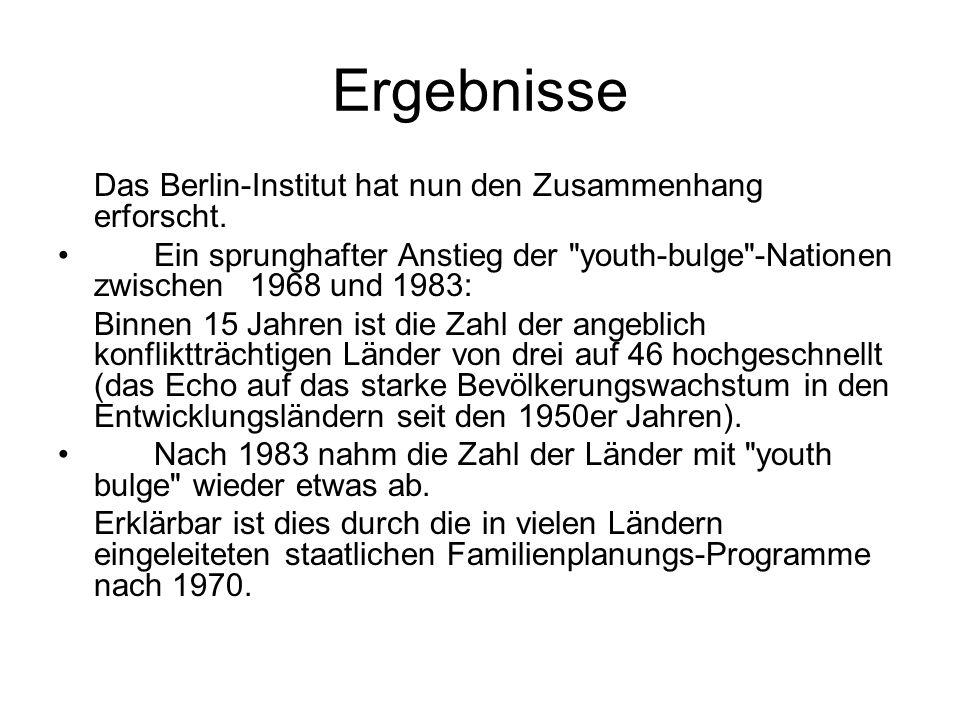 Ergebnisse Das Berlin-Institut hat nun den Zusammenhang erforscht. Ein sprunghafter Anstieg der