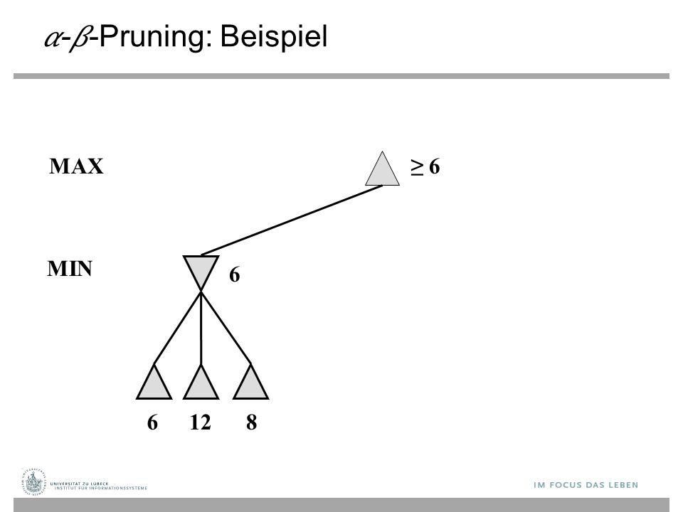 --Pruning: Beispiel ≥ 6 6 MAX 6128 MIN