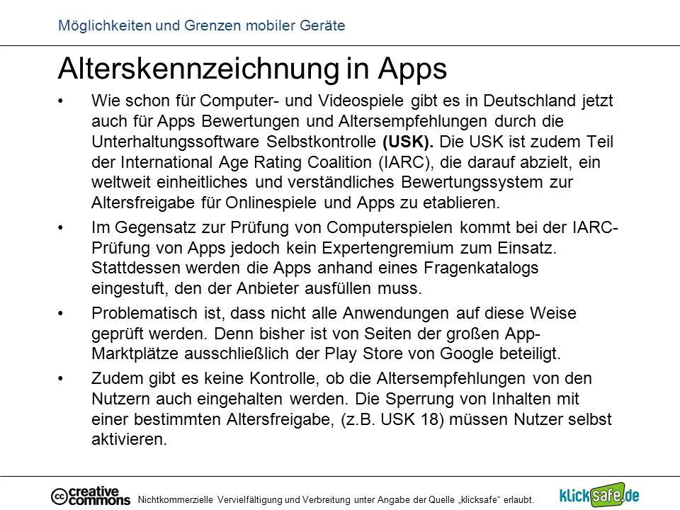 Alterskennzeichnung in Apps Wie schon für Computer- und Videospiele gibt es in Deutschland jetzt auch für Apps Bewertungen und Altersempfehlungen durc