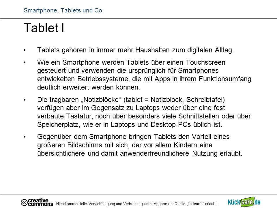 Tablet I Tablets gehören in immer mehr Haushalten zum digitalen Alltag. Wie ein Smartphone werden Tablets über einen Touchscreen gesteuert und verwend