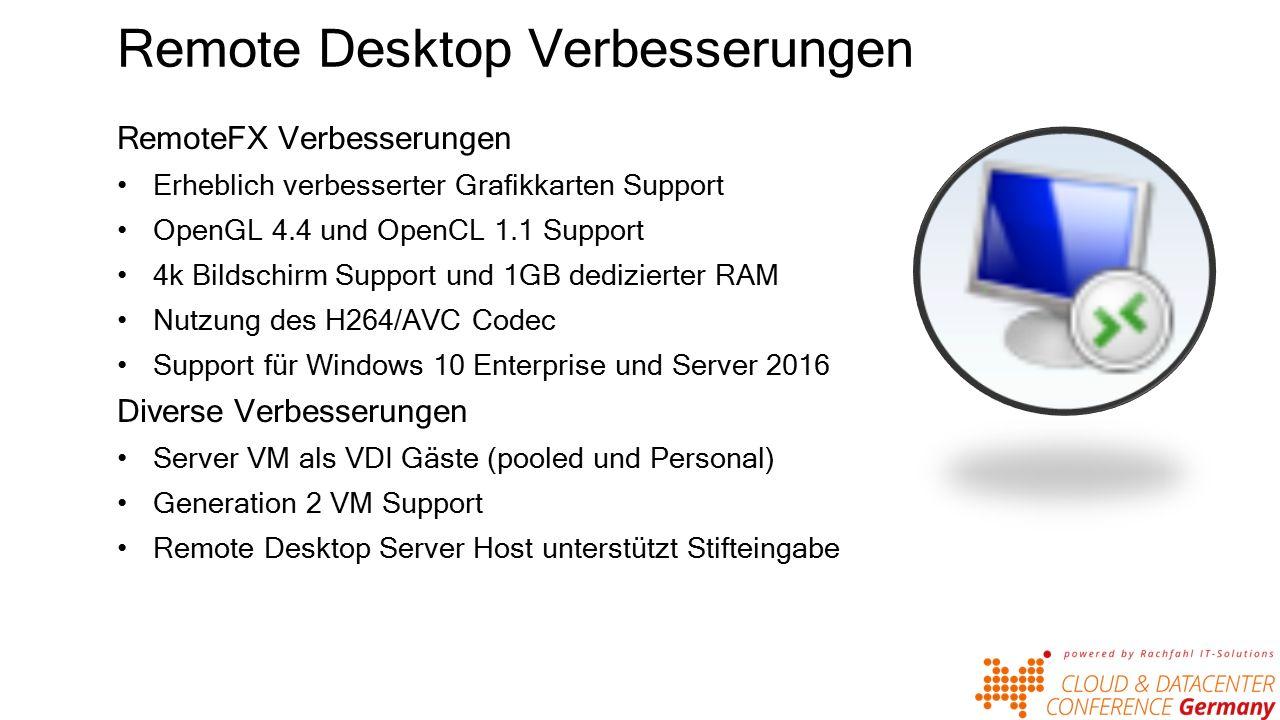 Shared VHDX Verbesserungen im Shared VHDX Umgang Neues Dateiformat VHD-Set Online Backup Hyper-V Replica Online Resize VHD Set