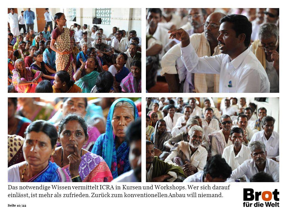 Seite 10/22 Das notwendige Wissen vermittelt ICRA in Kursen und Workshops.