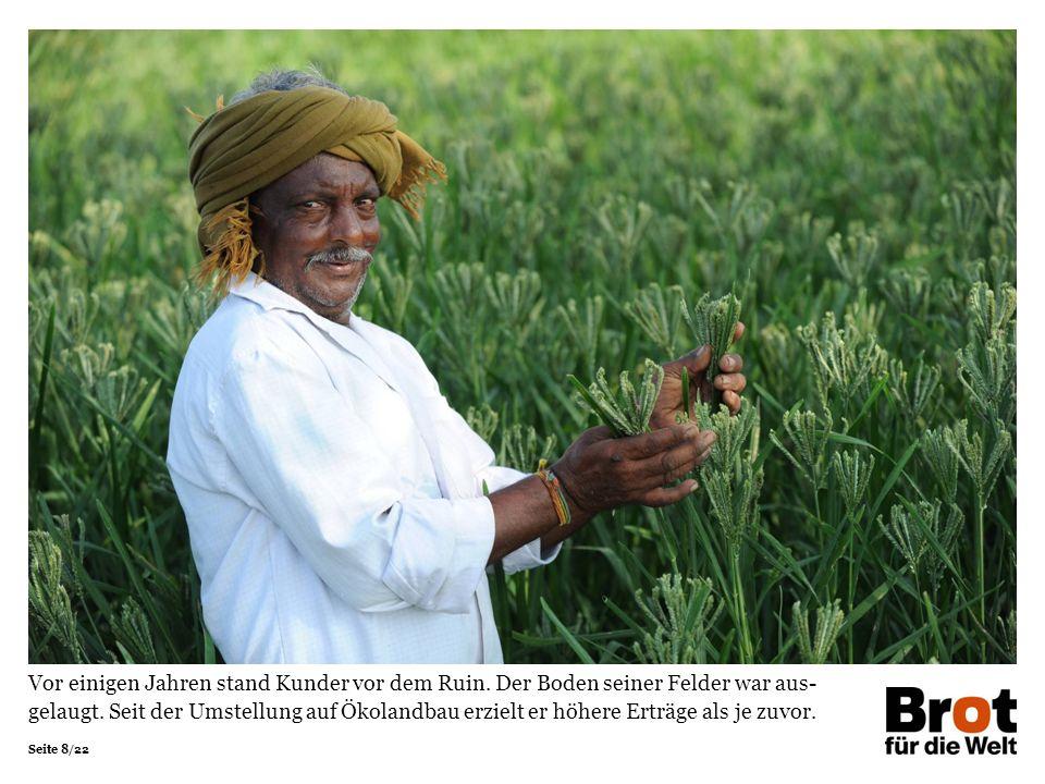 Seite 9/22 Dank ICRA haben die Bauernfamilien viele traditionelle Pflanzen wieder- entdeckt.