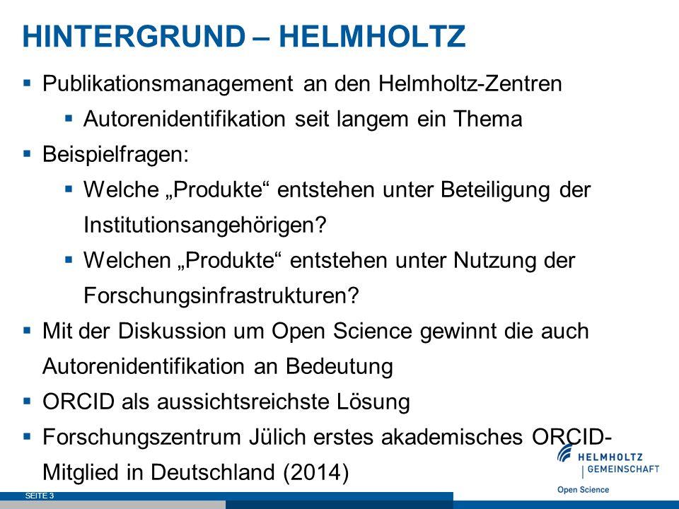 HINTERGRUND – HELMHOLTZ  Beispiel: Alfred-Wegener-Institut, Helmholtz-Zentrum für Polar- und Meeresforschung (AWI) SEITE 4