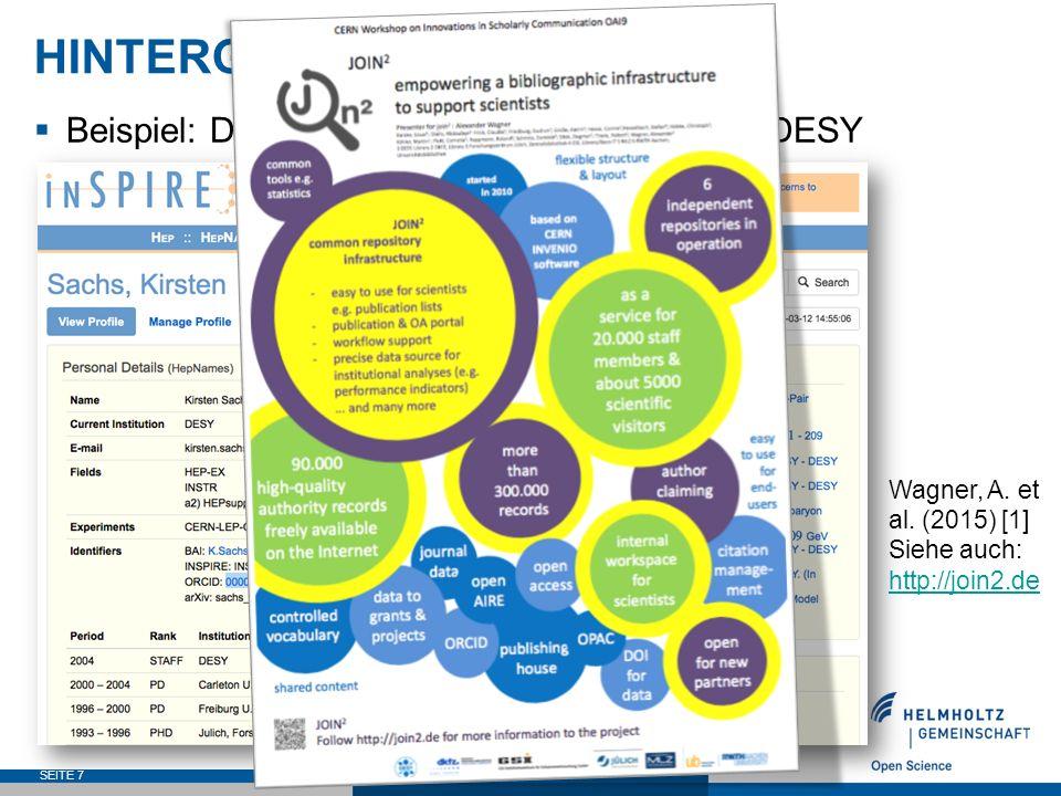 ORCID DE – ZIELE  Ausweitung der Inanspruchnahme von ORCID auf Nachweise im OAI-Dokumentenraum durch die Integration der Bielefeld Academic Search Engine (BASE) in das ORCID-Netzwerk SEITE 18