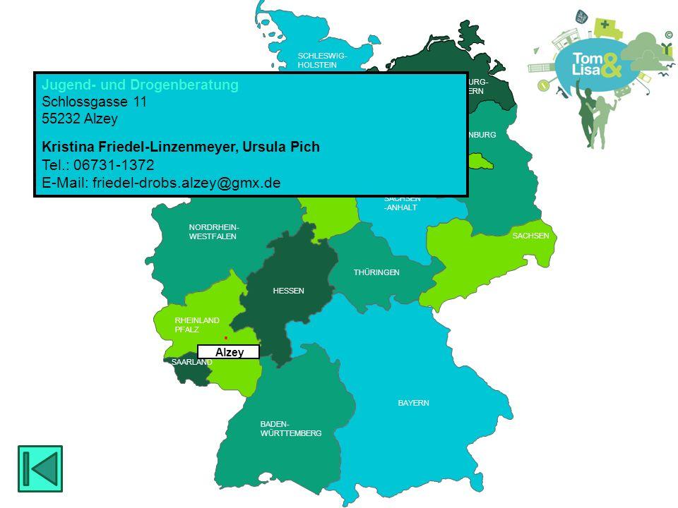 HESSEN BRANDENBURG BERLIN MECKLENBURG- VORPOMMERN RHEINLAND PFALZ SAARLAND HESSEN THÜRINGEN SACHSEN RHEINLAND PFALZ NIEDERSACHSEN NORDRHEIN- WESTFALEN