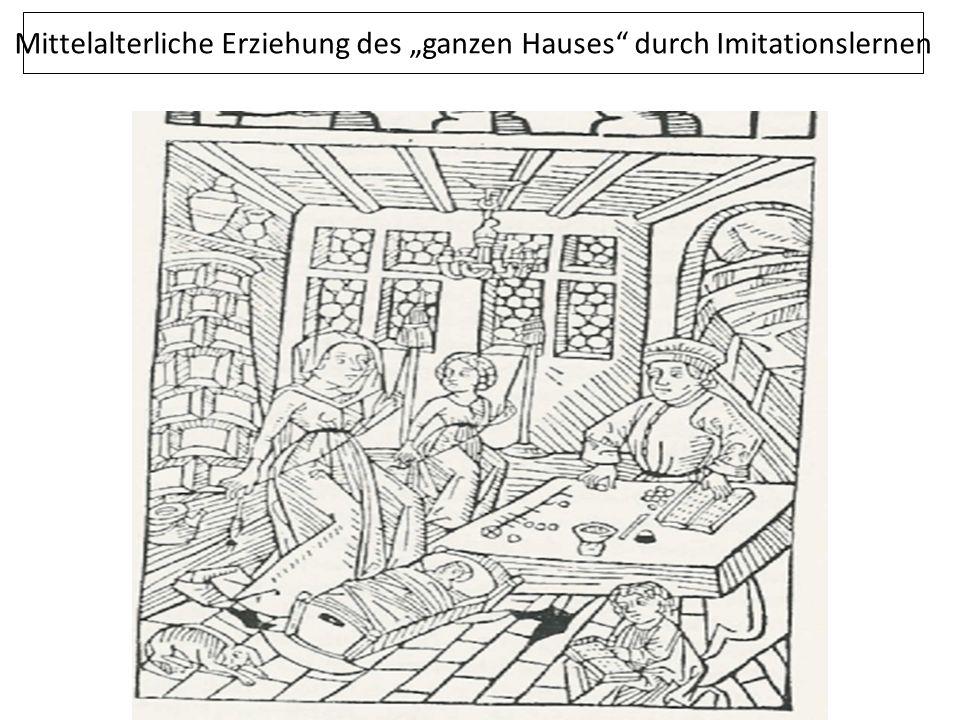 """Mittelalterliche Erziehung des """"ganzen Hauses"""" durch Imitationslernen"""