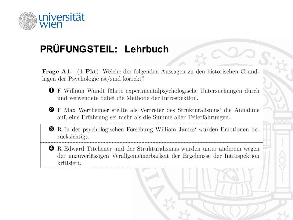 PRÜFUNGSTEIL: Lehrbuch