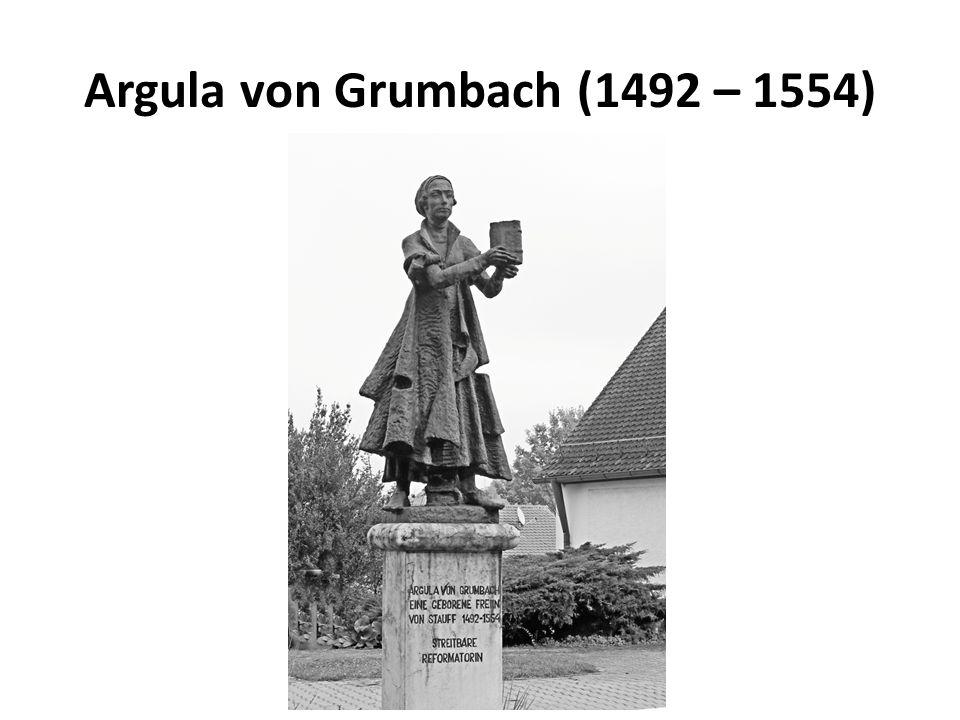 Argula von Grumbach (1492 – 1554)