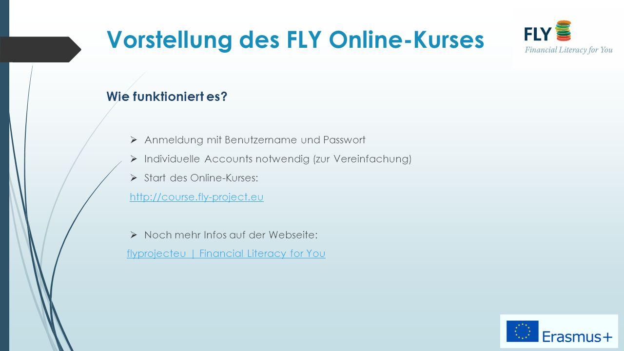 Vorstellung des FLY Online-Kurses Wie funktioniert es.