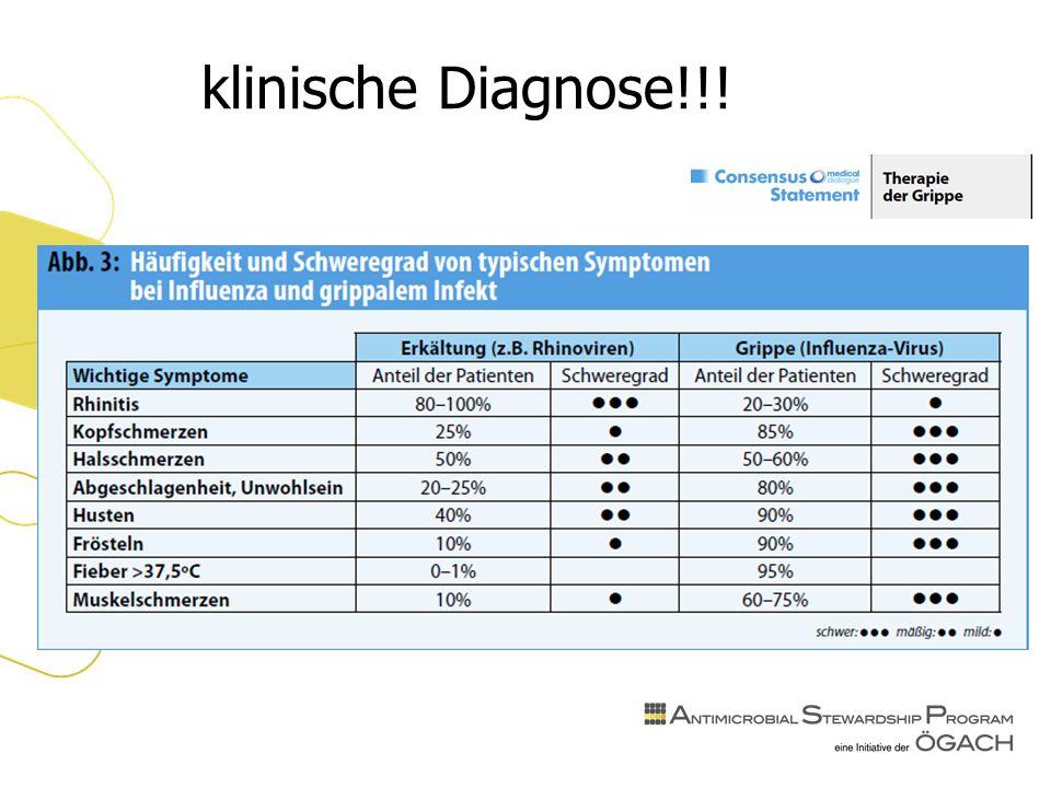 klinische Diagnose!!!