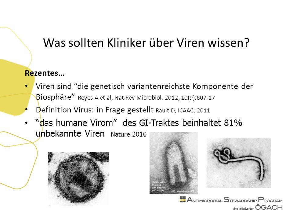 Was sollten Kliniker über Viren wissen.