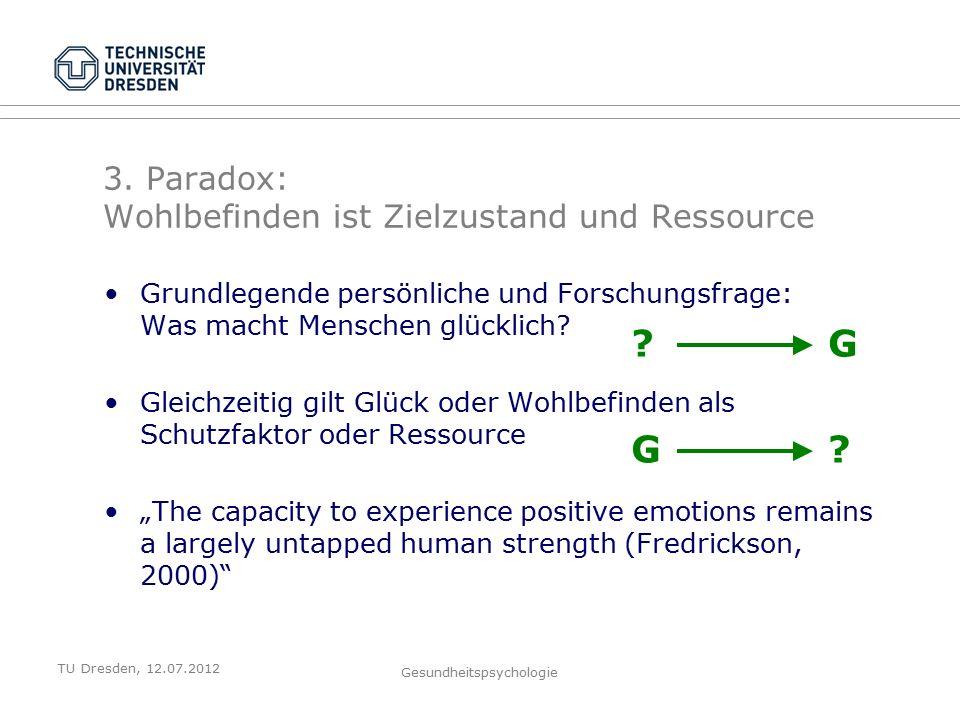 TU Dresden, 12.07.2012 Gesundheitspsychologie 3.