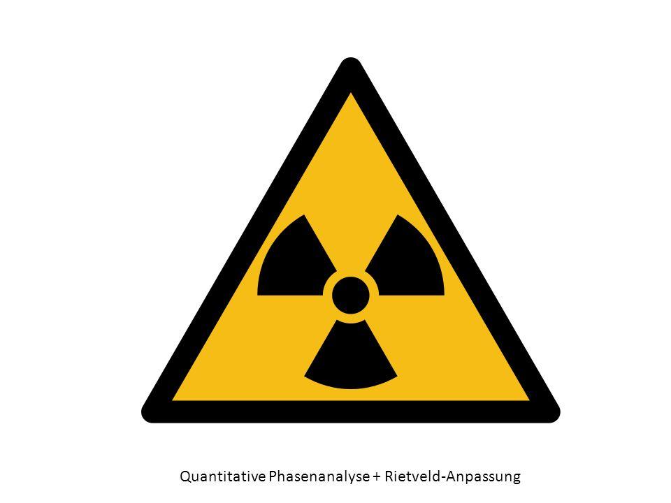 Quantitative Phasenanalyse + Rietveld-Anpassung