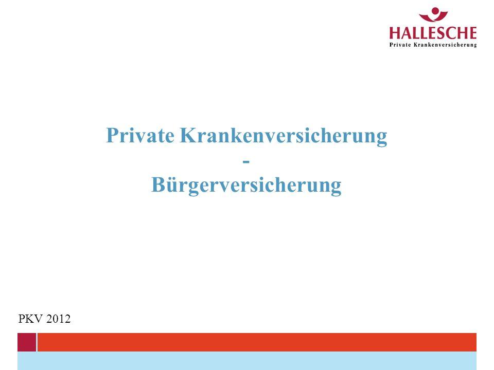 Private Krankenversicherung - Bürgerversicherung PKV 2012