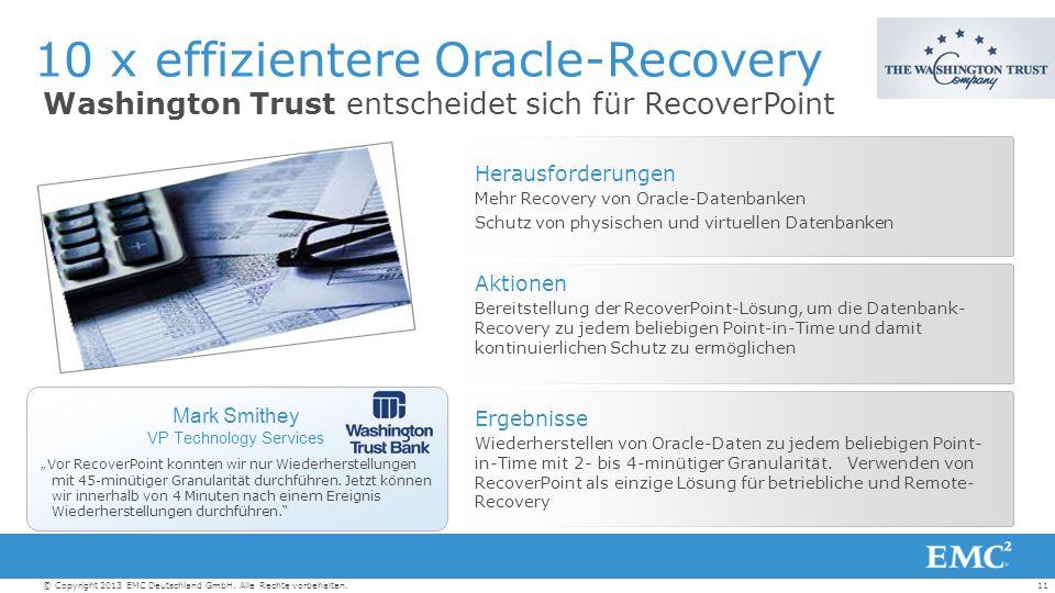 11© Copyright 2013 EMC Deutschland GmbH. Alle Rechte vorbehalten.