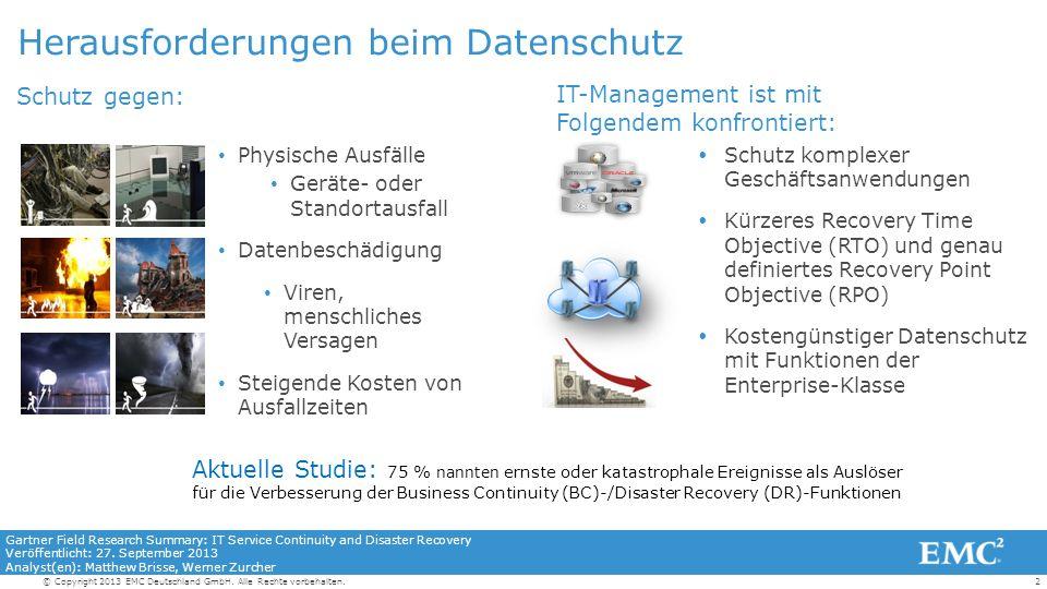 2© Copyright 2013 EMC Deutschland GmbH. Alle Rechte vorbehalten.