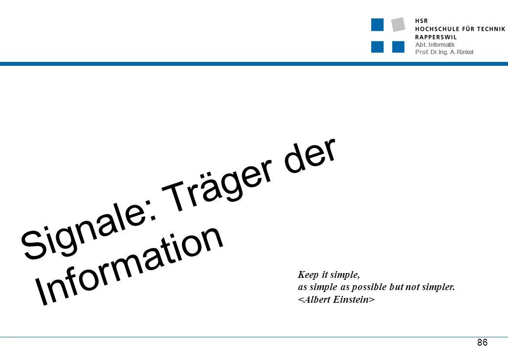 Abt. Informatik Prof. Dr.Ing. A.