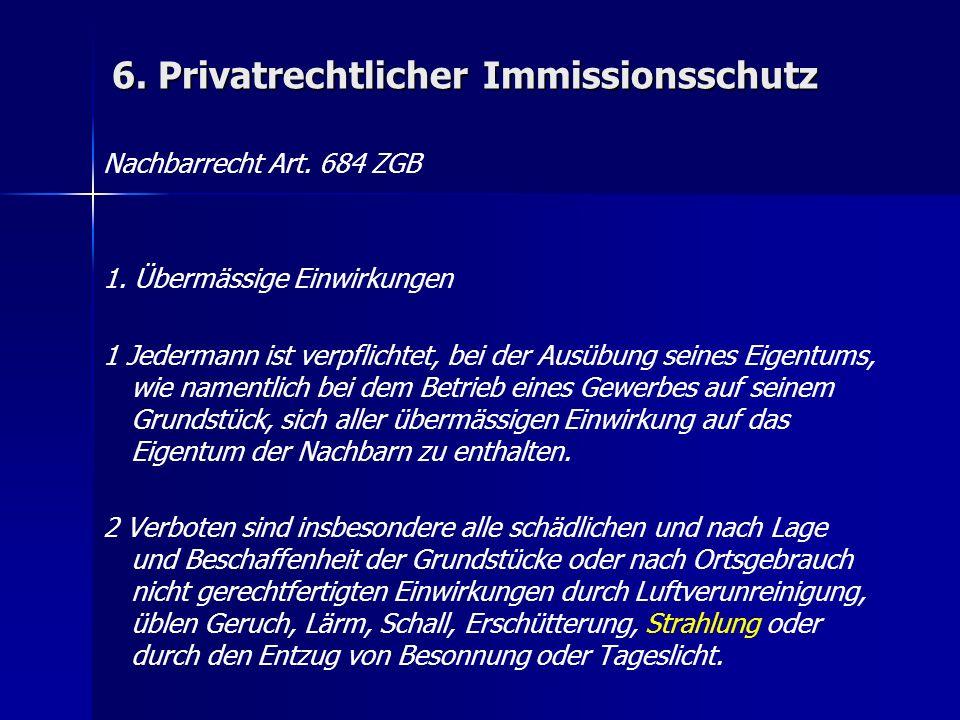 6. Privatrechtlicher Immissionsschutz Nachbarrecht Art.