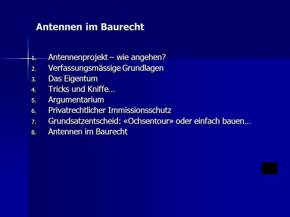 1.Antennenprojekt – wie angehen.