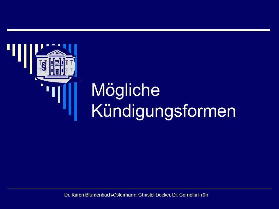 § Dr.Karen Blumenbach-Ostermann, Christel Decker, Dr.