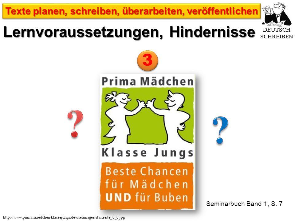 DEUTSCH SCHREIBEN Texte planen, schreiben, überarbeiten, veröffentlichen http://www.primamaedchen-klassejungs.de/userimages/startseite_0_0.jpg Seminarbuch Band 1, S.