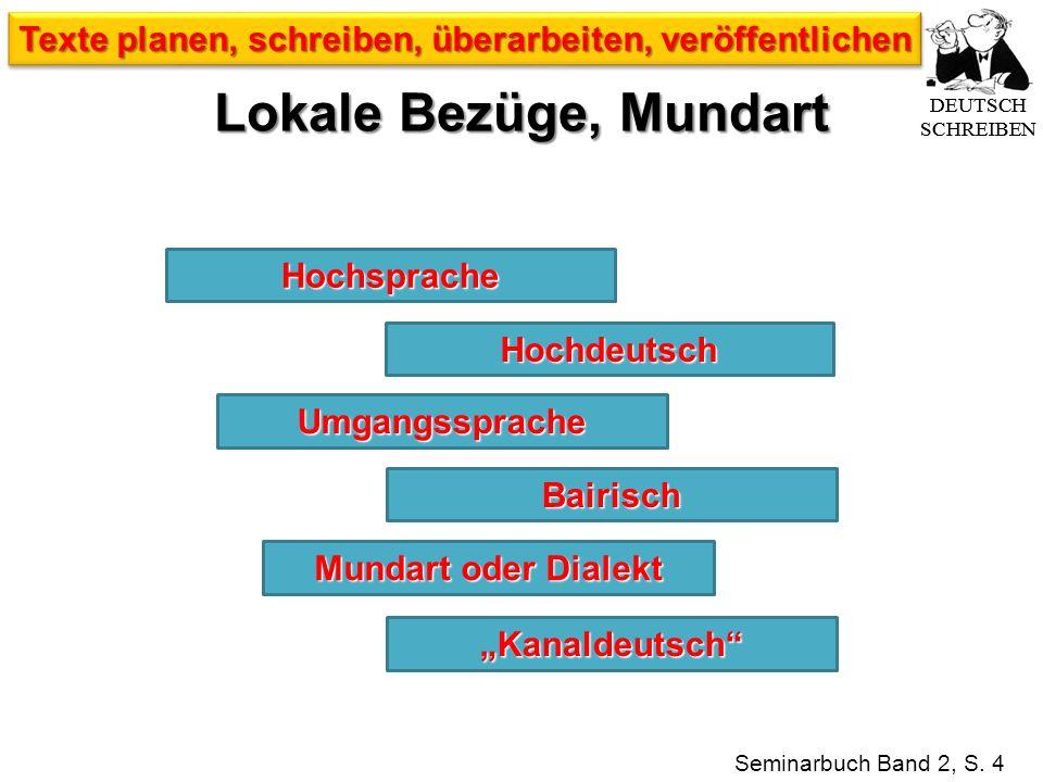 Hochdeutsch Hochsprache Seminarbuch Band 2, S.