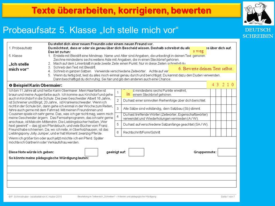 DEUTSCH SCHREIBEN Probeaufsatz 5.