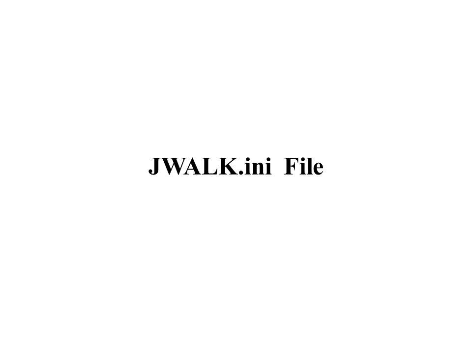 JWALK.ini File
