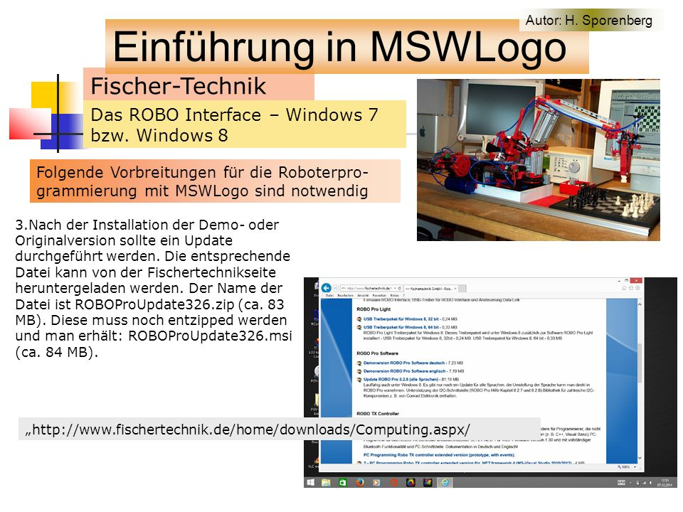 Fischer-Technik Das ROBO Interface – Windows 7 bzw.