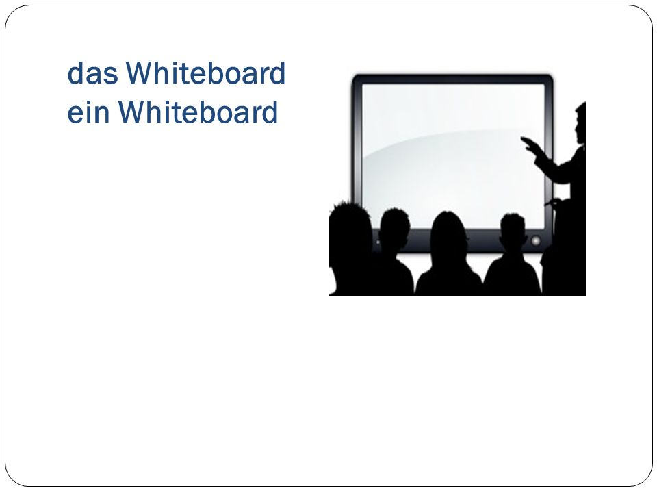 das Whiteboard ein Whiteboard