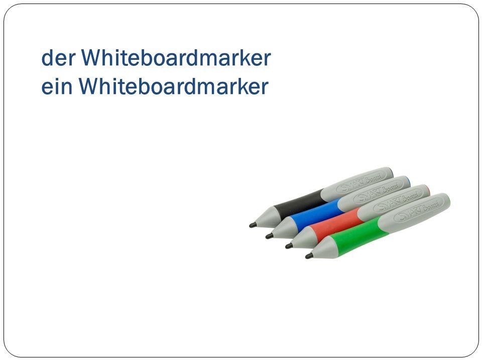 der Whiteboardmarker ein Whiteboardmarker