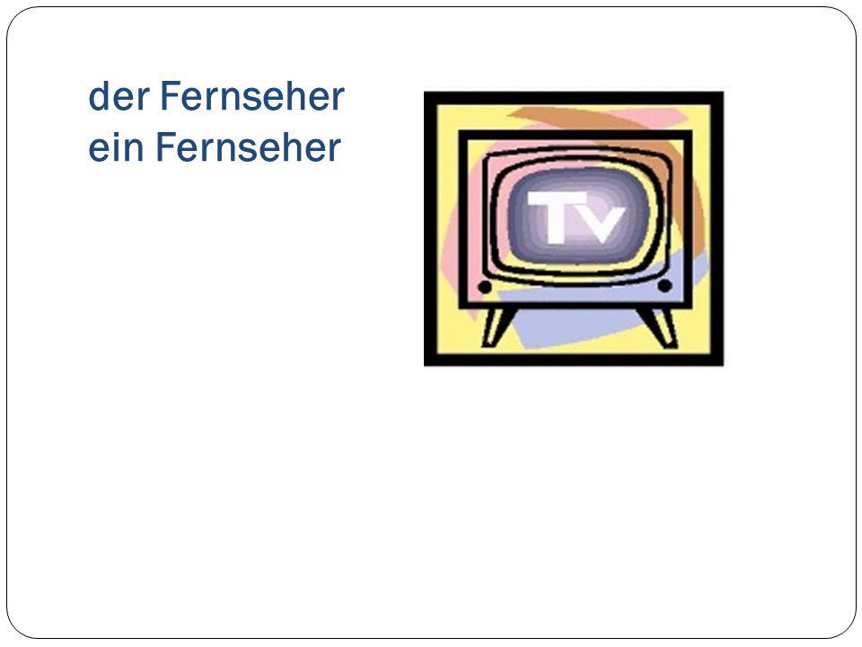 der Fernseher ein Fernseher