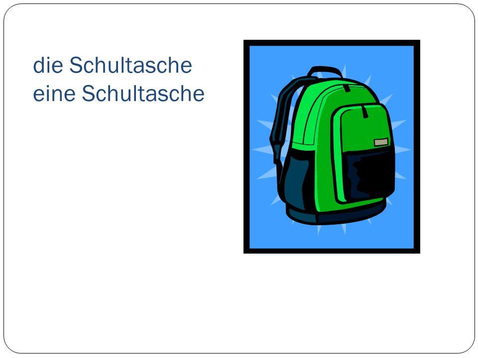 die Schultasche eine Schultasche