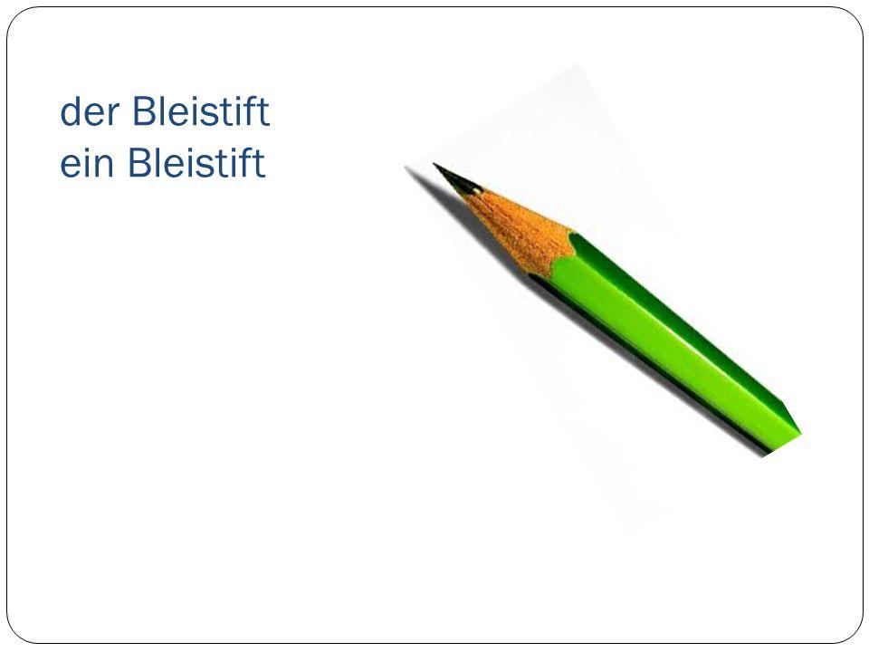 der Bleistift ein Bleistift