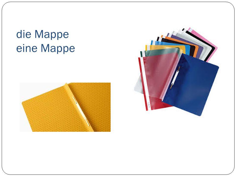 die Mappe eine Mappe