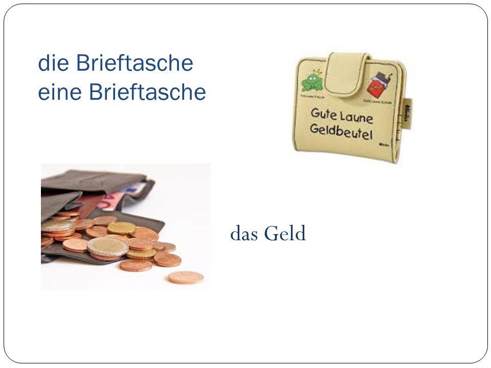 die Brieftasche eine Brieftasche das Geld