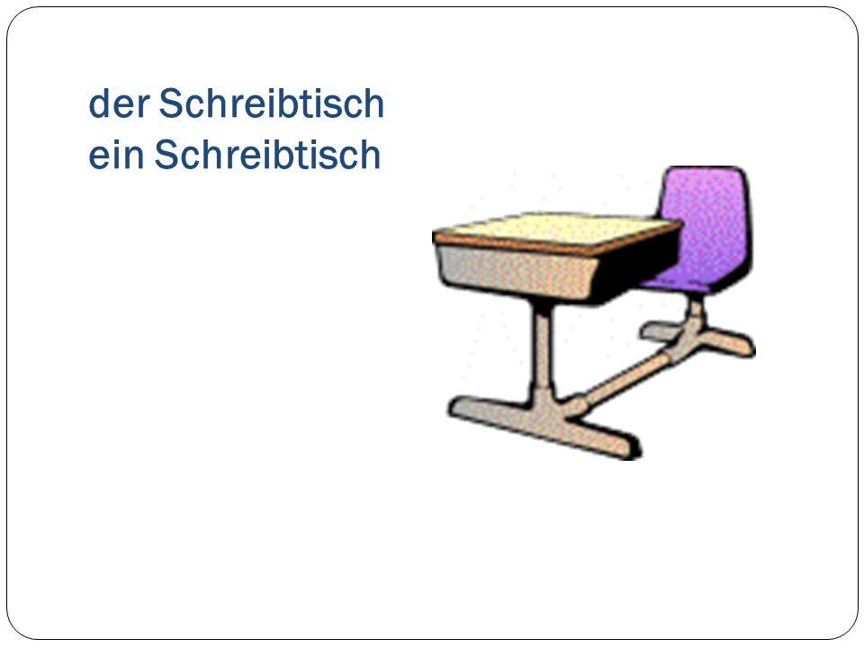 der Schreibtisch ein Schreibtisch