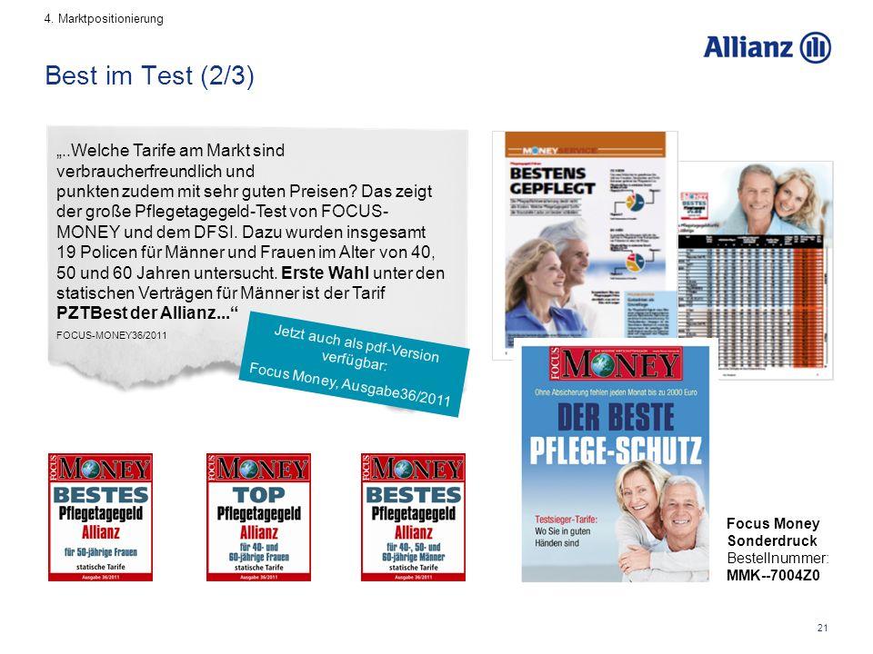 """21 Best im Test (2/3) """"..Welche Tarife am Markt sind verbraucherfreundlich und punkten zudem mit sehr guten Preisen."""