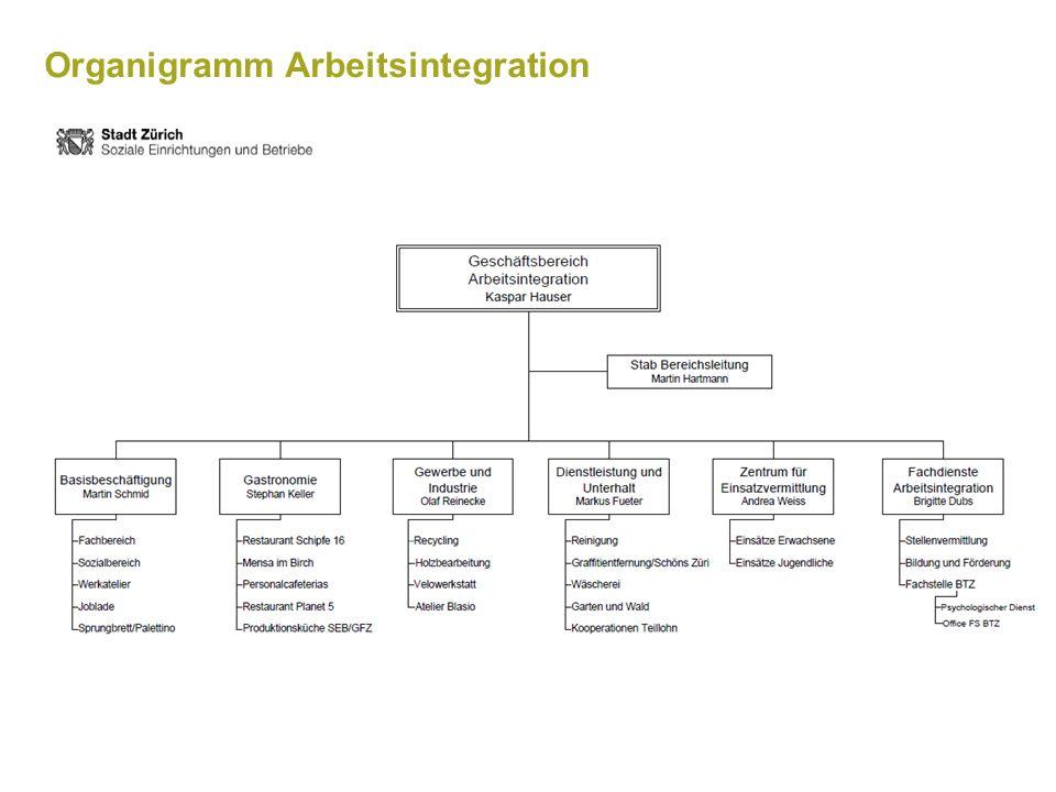 Arbeitsintegration der Stadt Zürich im Überblick Version 2016 Seite 8 Branchen Dienstleistung und Unterhalt (Umsatz Fr.