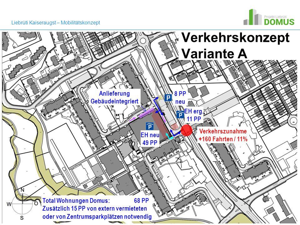 Verkehrskonzept Variante A EH neu 49 PP 8 PP neu EH erg.