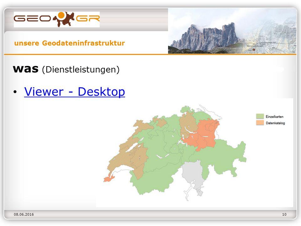 unsere Geodateninfrastruktur 08.06.2016 was (Dienstleistungen) Viewer - Desktop 10
